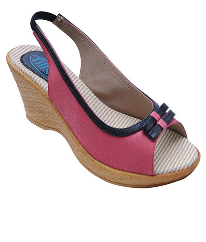 Fills Pink Wedges Heels