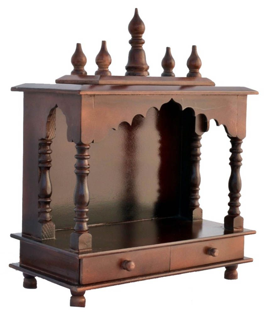 Jodhpur handicrafts brown wood hanging mandir buy jodhpur - Wall mounted wooden temple design for home ...