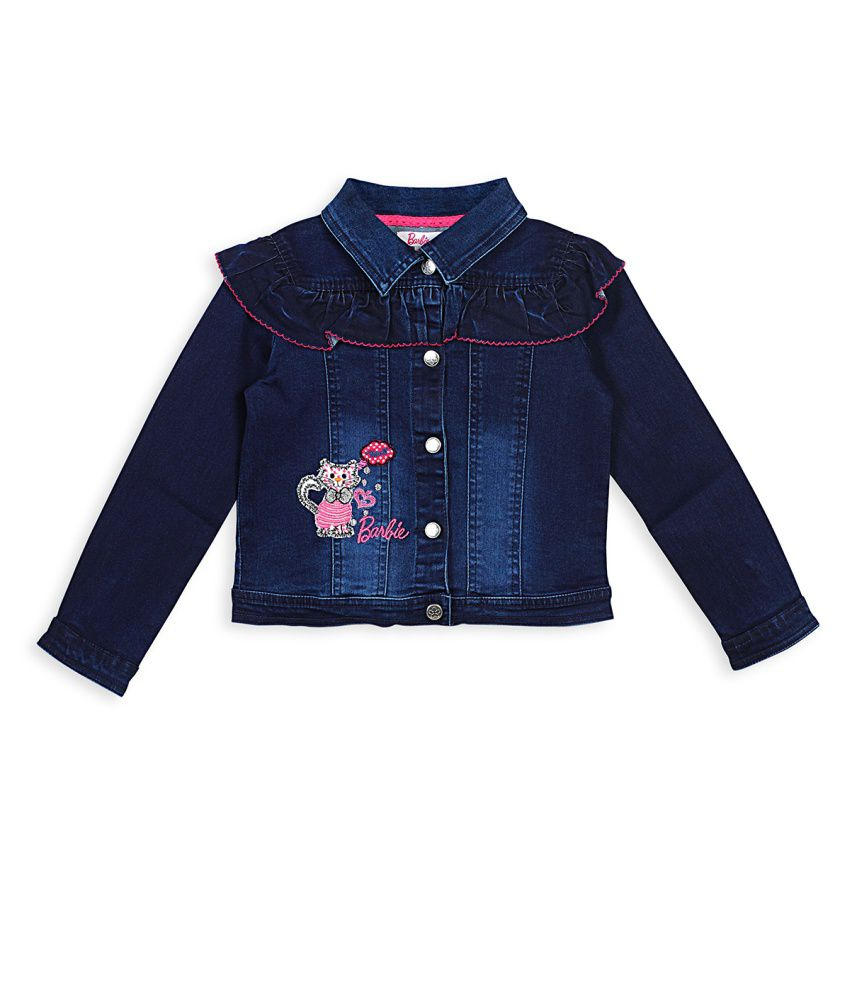 Barbie Blue Ruffle Jacket In Denim