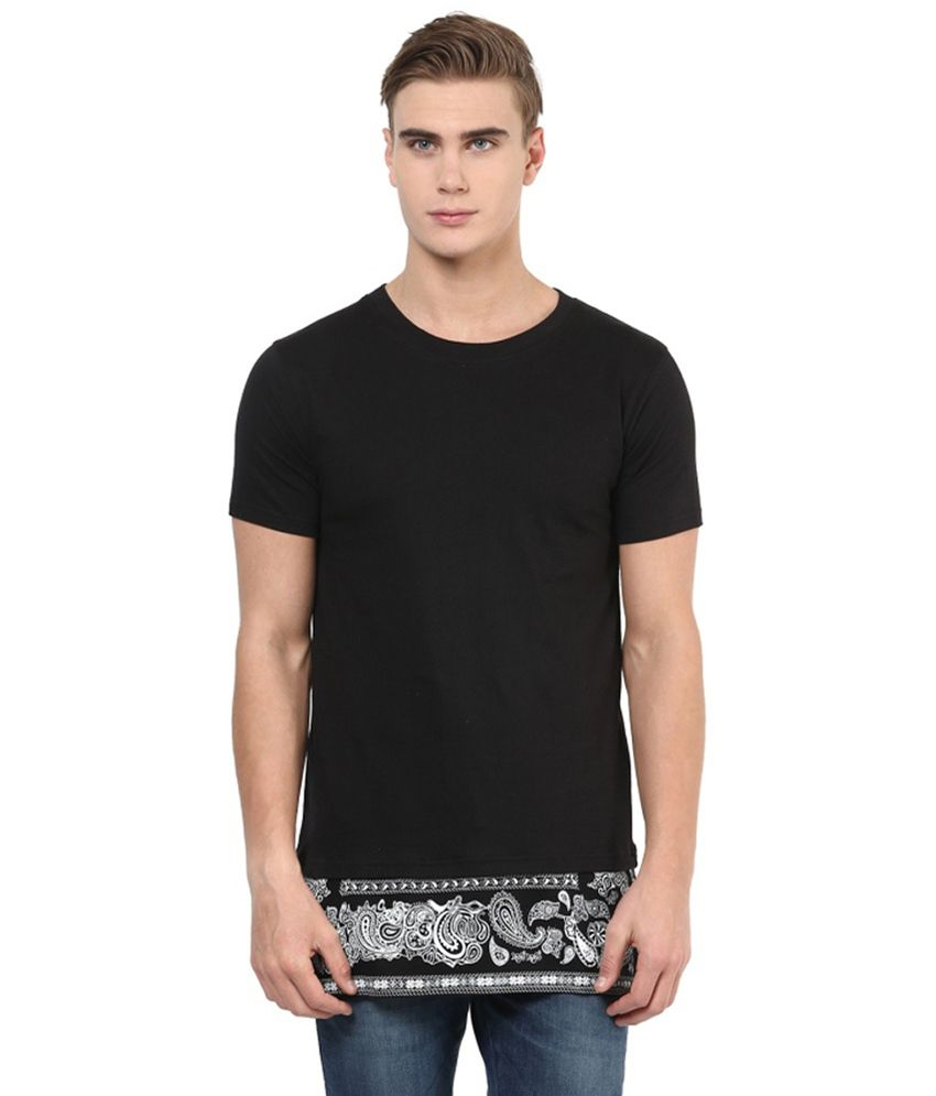 Benoit Black Cotton T-shirt