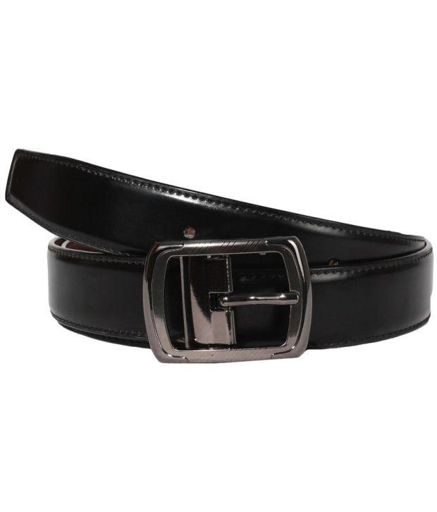 Klaska Men Formal Genuine Faux Leather Reversible Belt