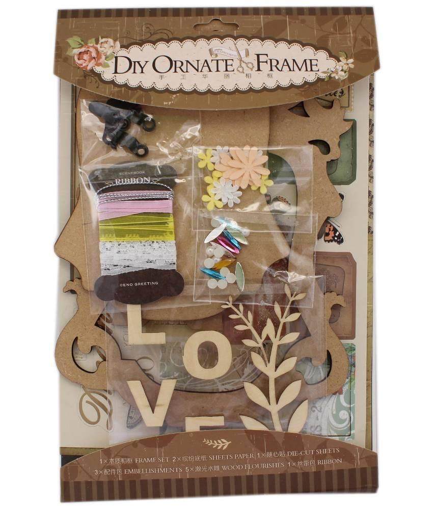 Tootpado DIY Ornate Photo Frame Set (SOF04) - Brown - Creative ...