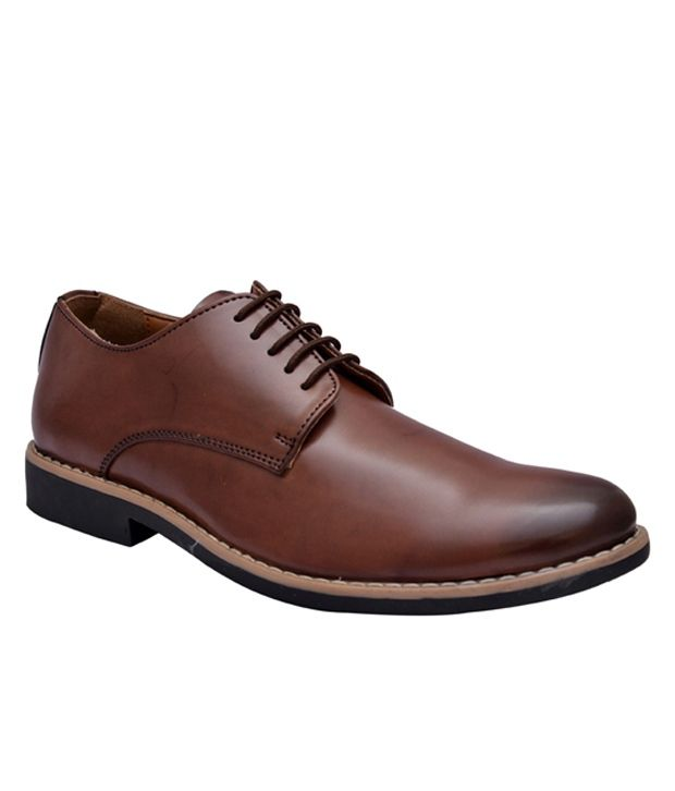 Hirel's Brown Formal Shoes