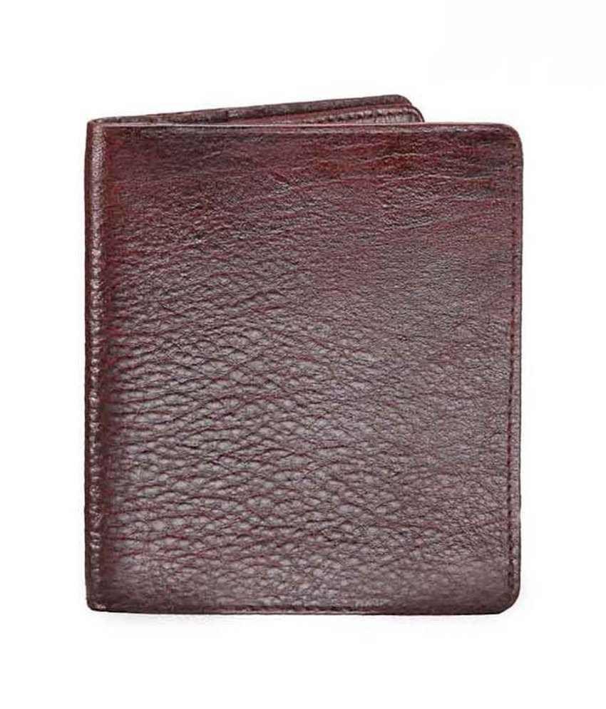 WalletsnBags Brown Double Flap Wallet