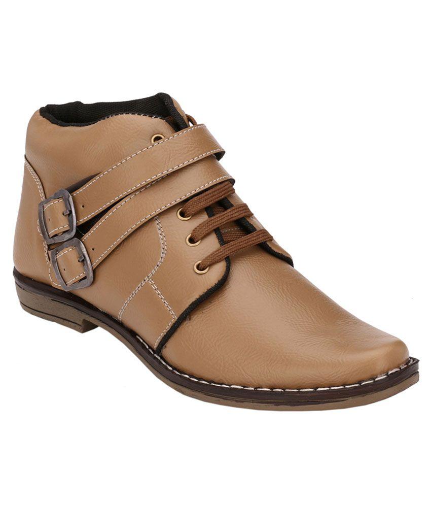 Black Field Beige Smart Boot