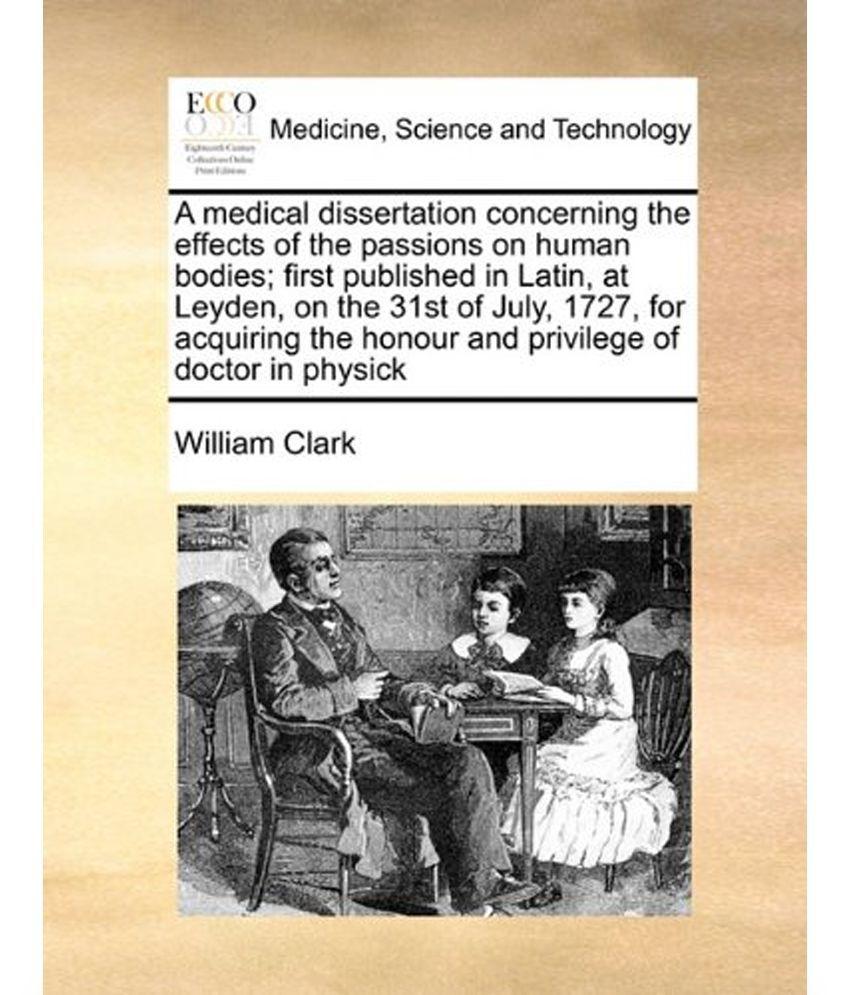 Medical dissertation