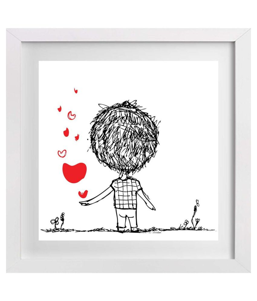 Artzfolio Love Dove Canvas Art Print With Frame