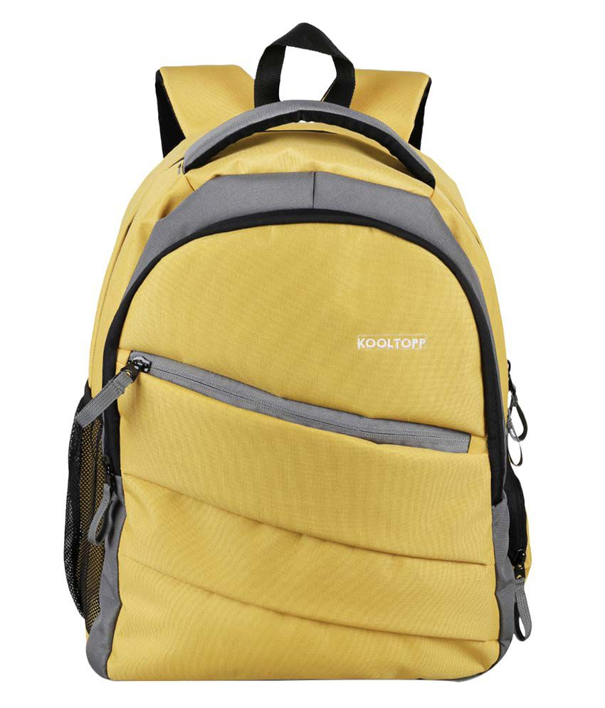 Kooltopp Yellow Polyester Backpack