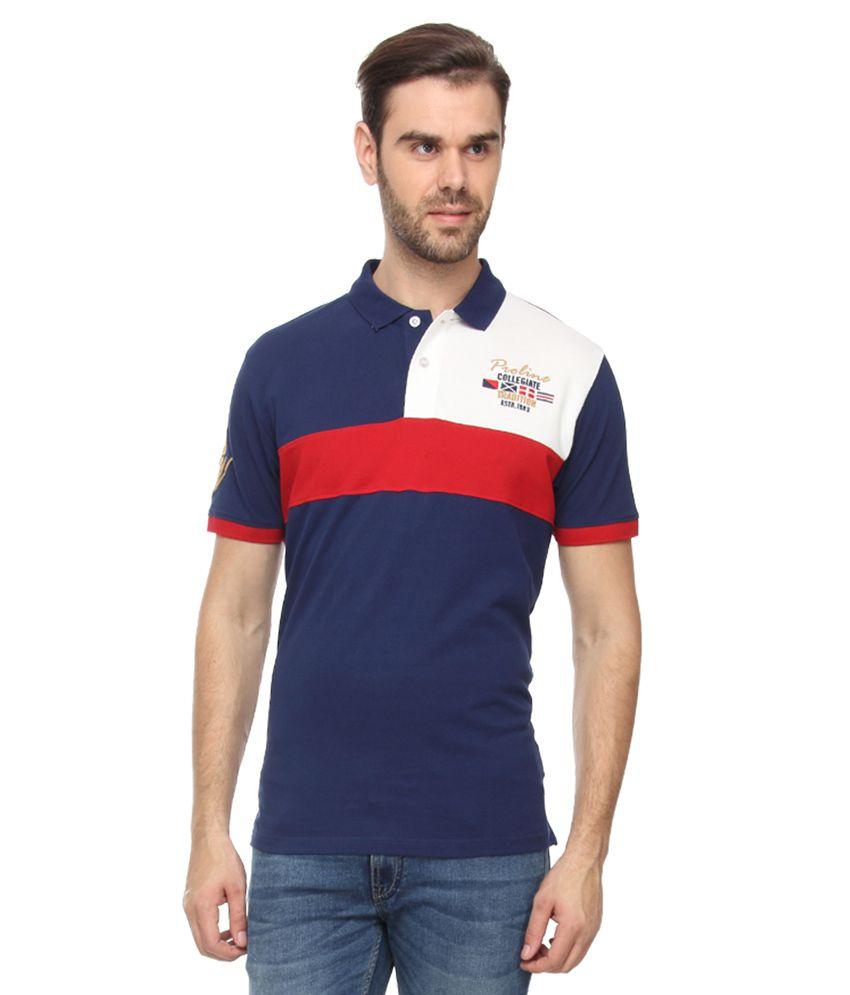Proline Blue Half Sleeves Polo T-Shirt