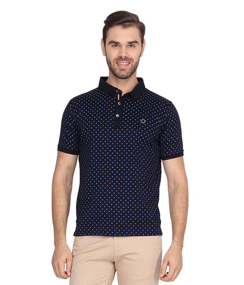Proline Navy Half Sleeves Polo T-Shirt