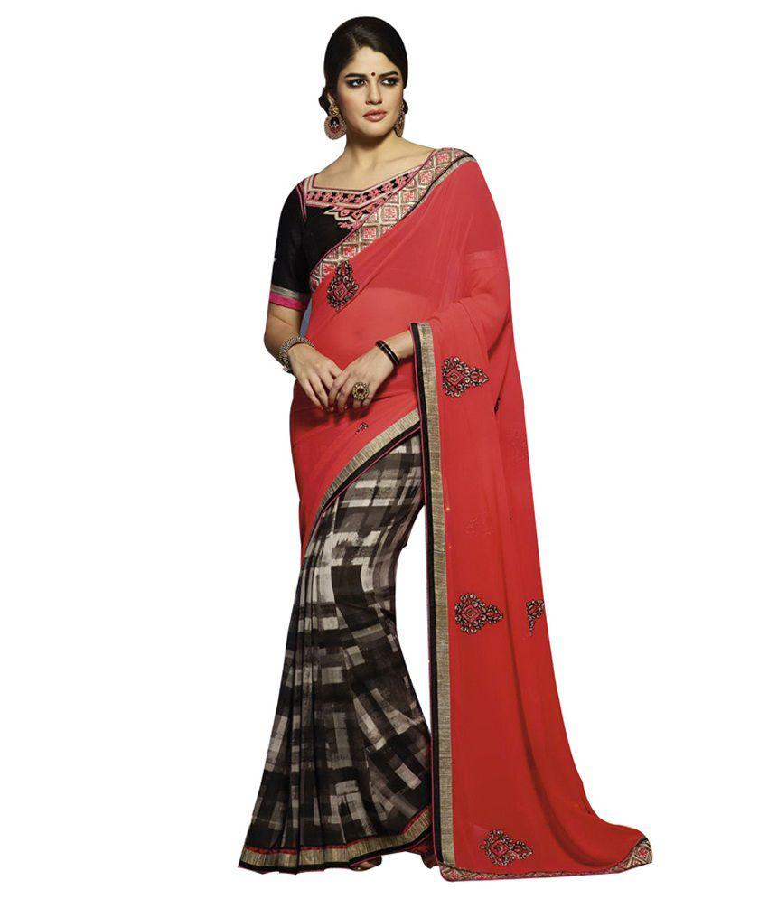 Fashiongalleria Multicoloured Georgette Saree