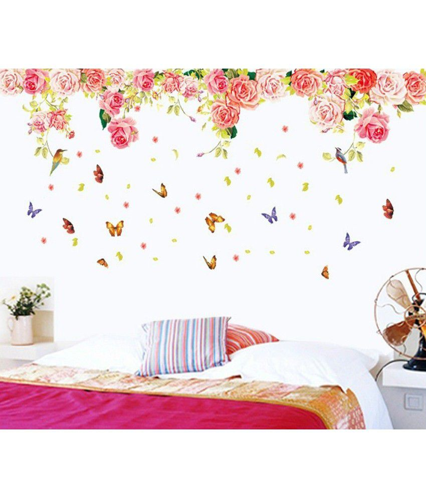 Vintage rose wall stickers image collections home wall vintage rose wall stickers amipublicfo Gallery