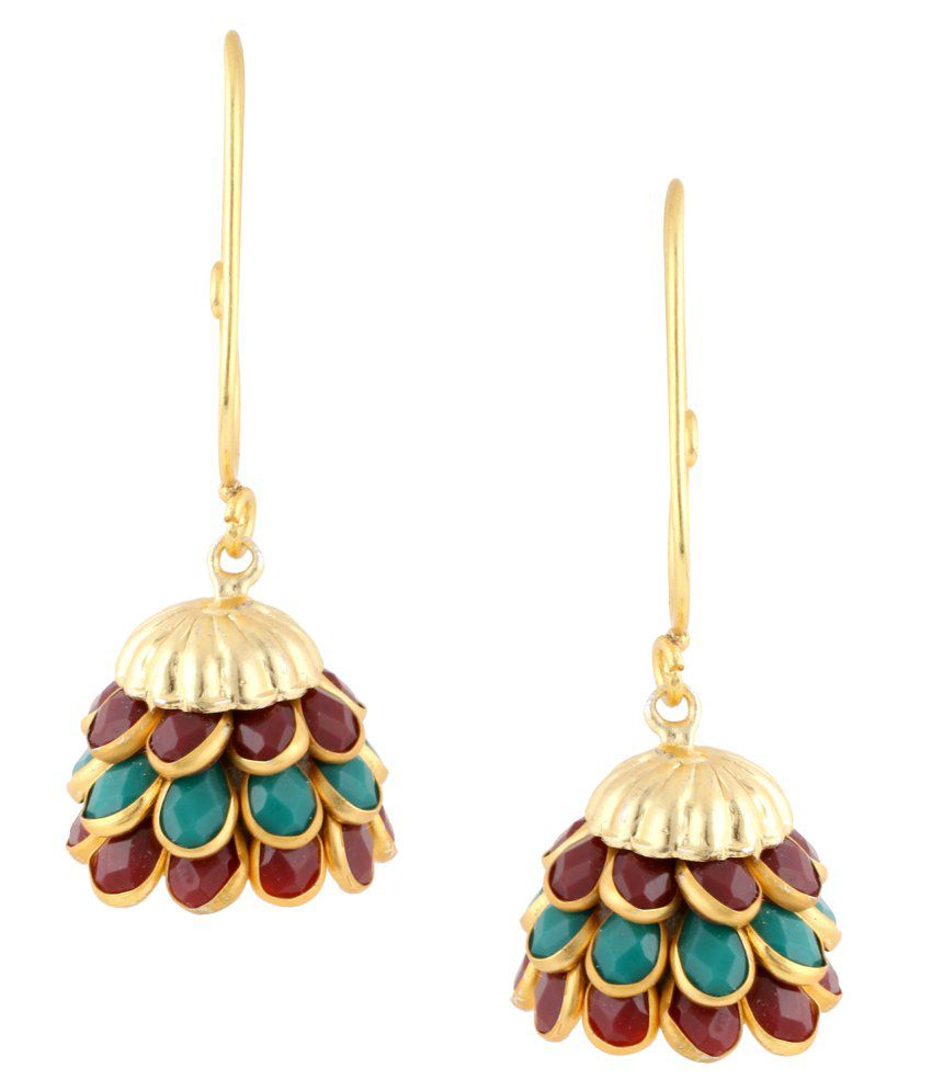 Archi Collection Ethnic Gold Plated Paachi Jhumki