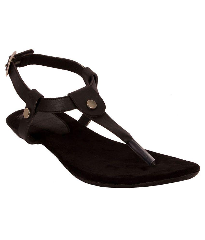Glamwalk Black Sandals