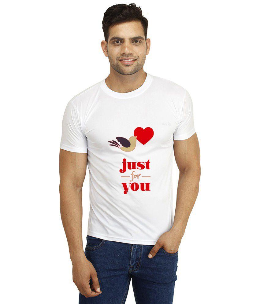 Dealnearn White Round T-Shirt