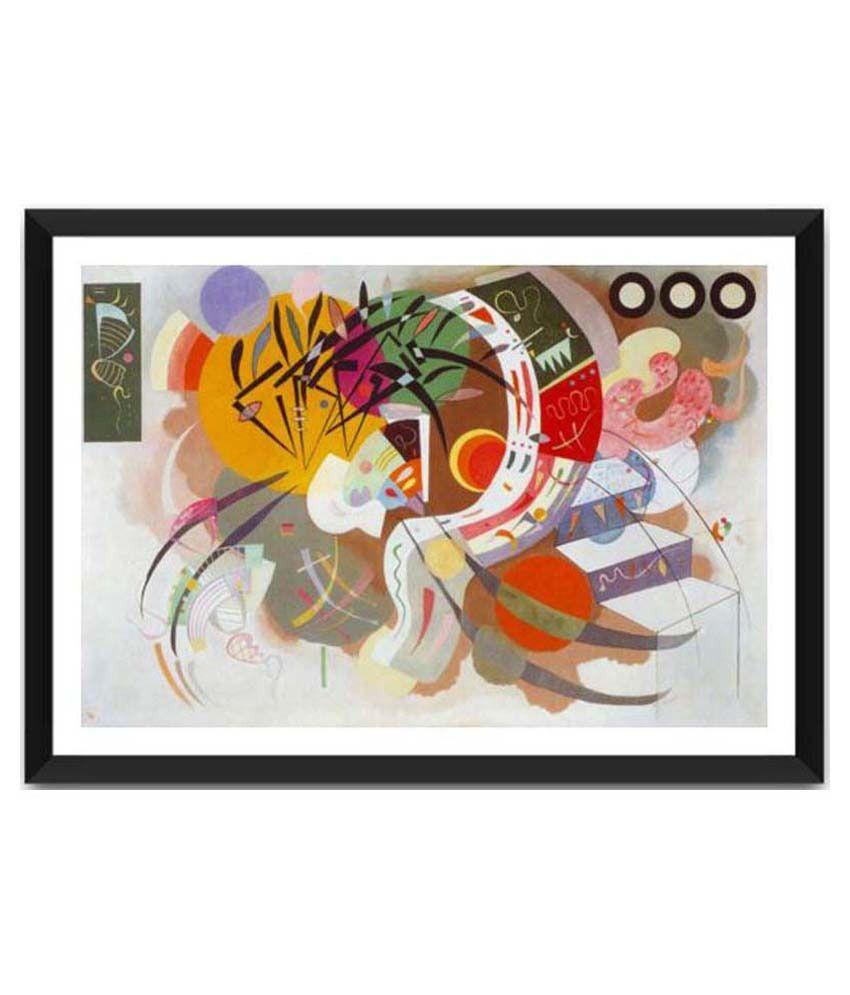 Tallenge Dominant Curve By Wassily Kandinsky Framed Art Print