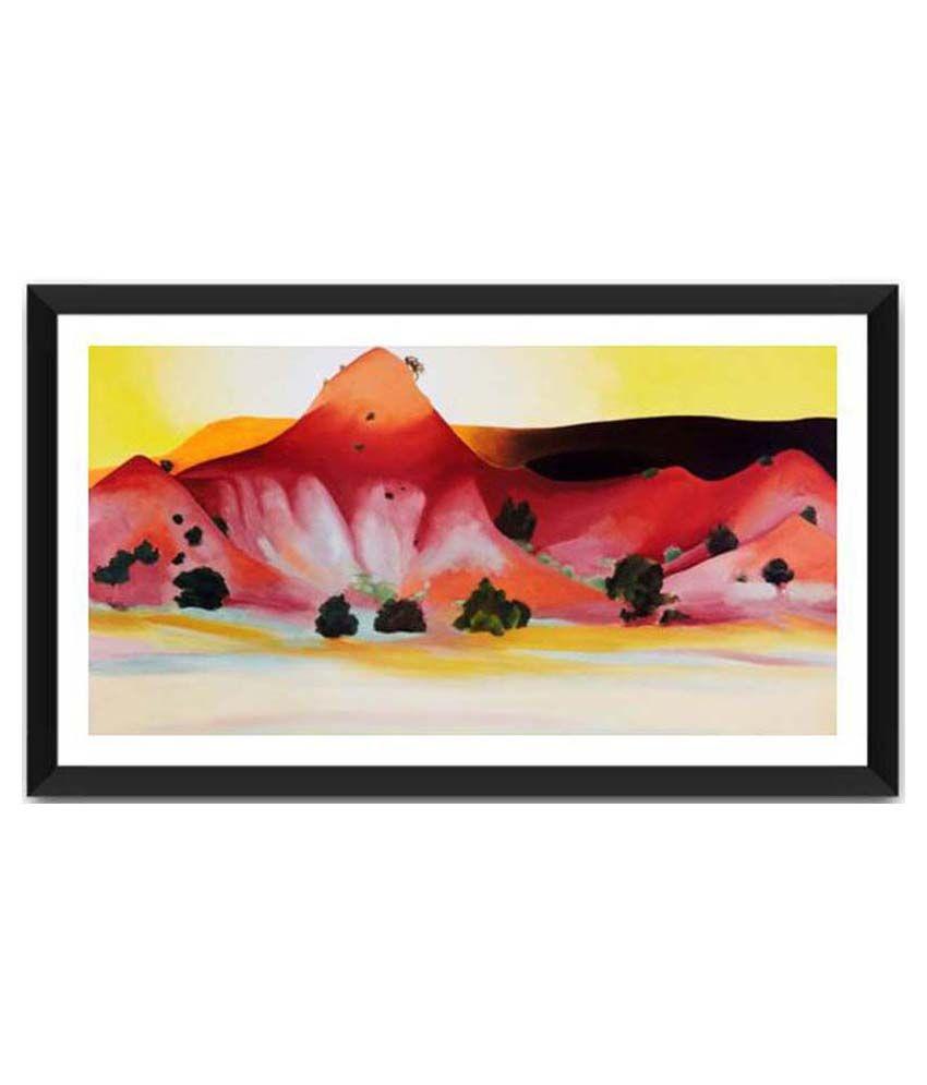 Tallenge Hills And Mesa By Georgia O'Keeffe Framed Art Print