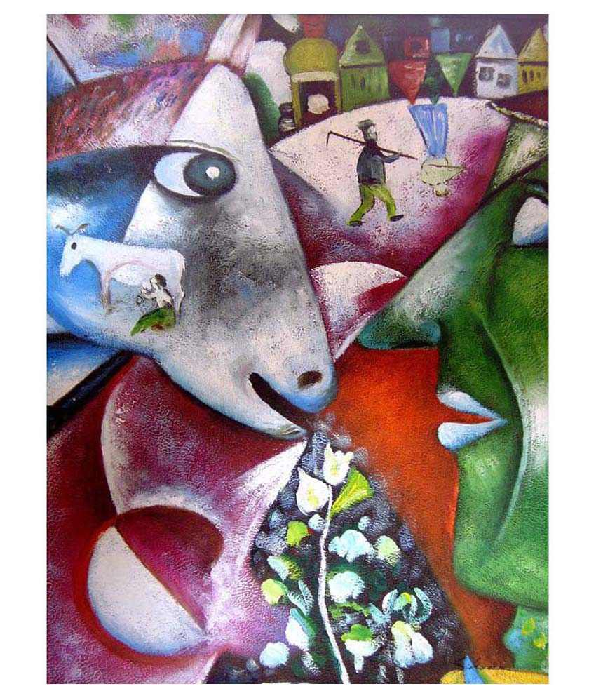 Tallenge I And The Village By Marc Chagall Gallery Wrap Canvas Art Print
