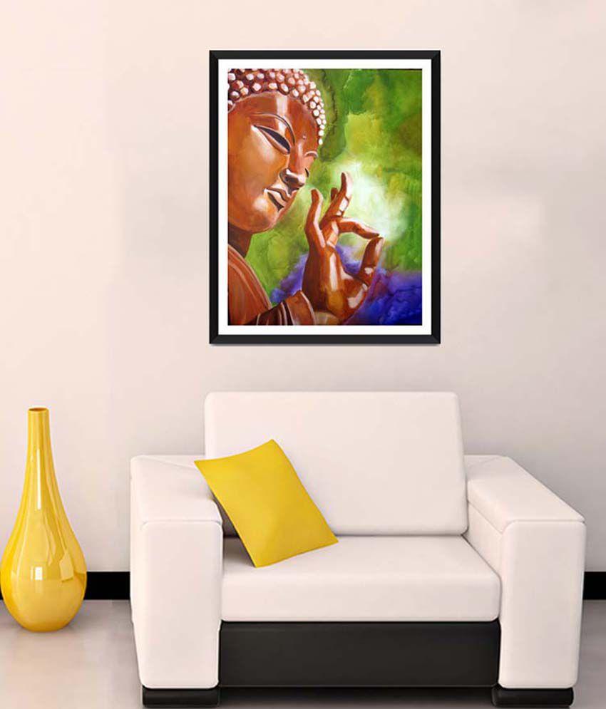 Tallenge Medium Brown Buddha Art Framed Art Print