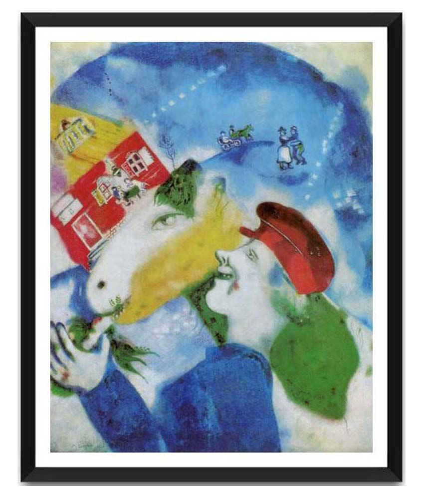 Tallenge Peasant Life By Marc Chagall Framed Art Print