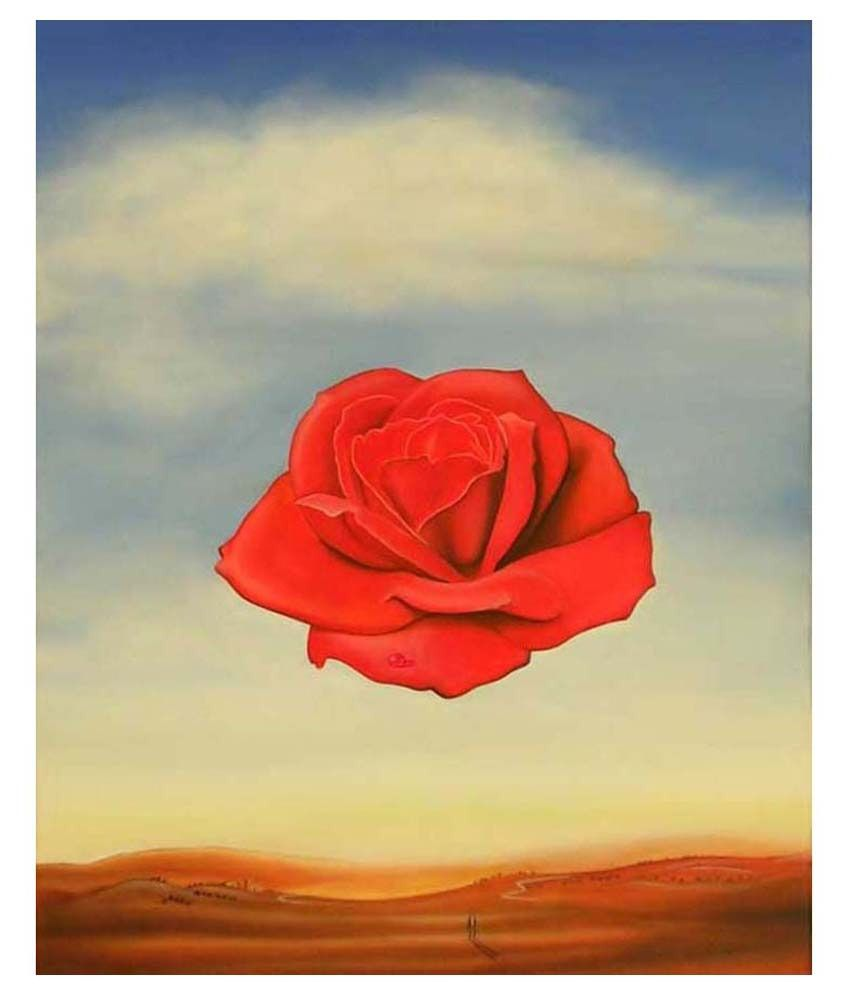 Tallenge Rose Meditative By Salvador Dali Gallery Wrap Canvas Art Print