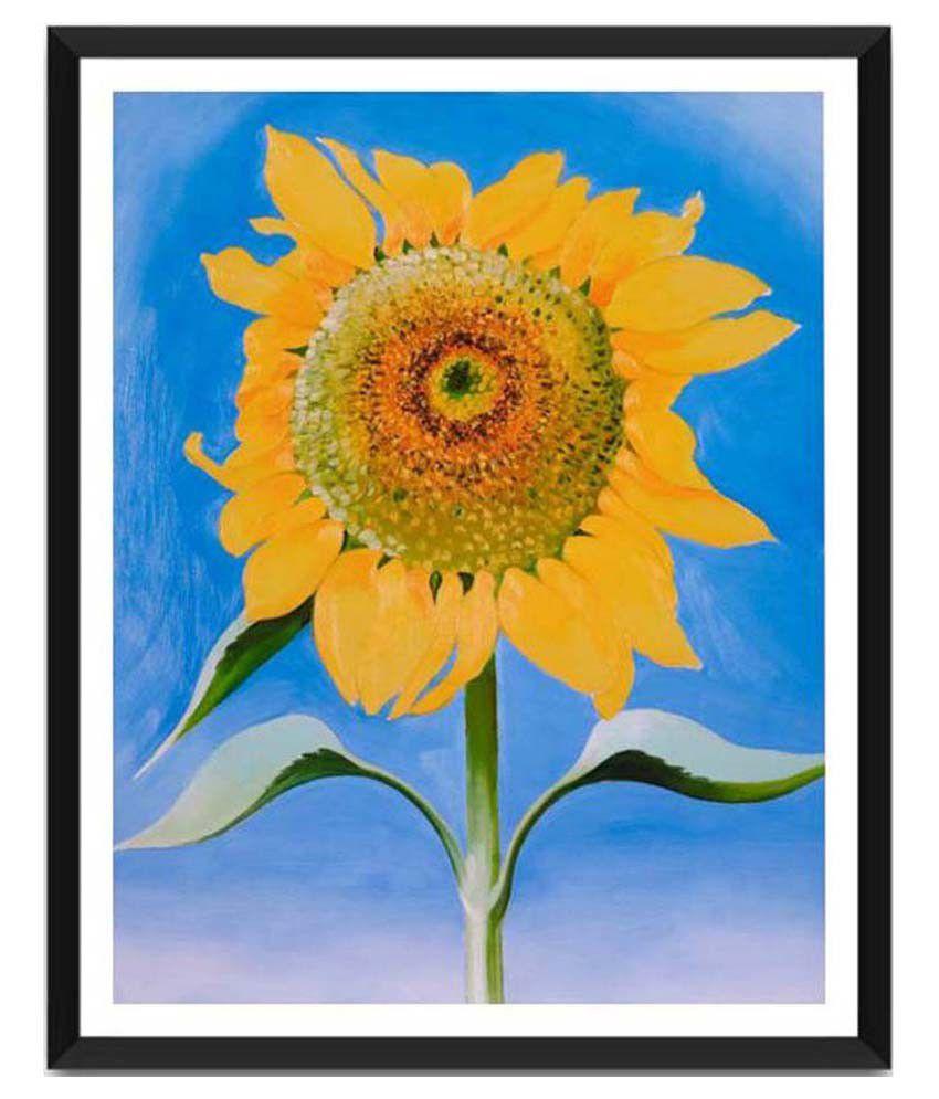 Tallenge Sunflower By Georgia O'Keeffe Framed Art Print