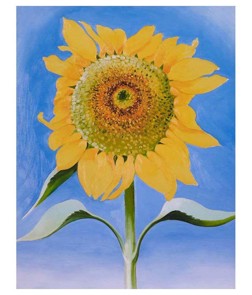 Tallenge Sunflower By Georgia O'Keeffe Gallery Wrap Canvas Art Print
