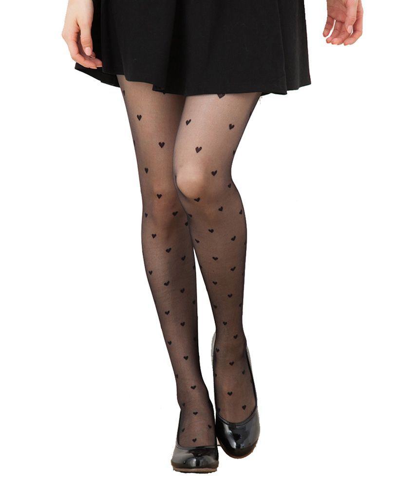 e9159754420 Creative Spinach Black Nylon Stockings  Buy Online at Low Price in India -  Snapdeal