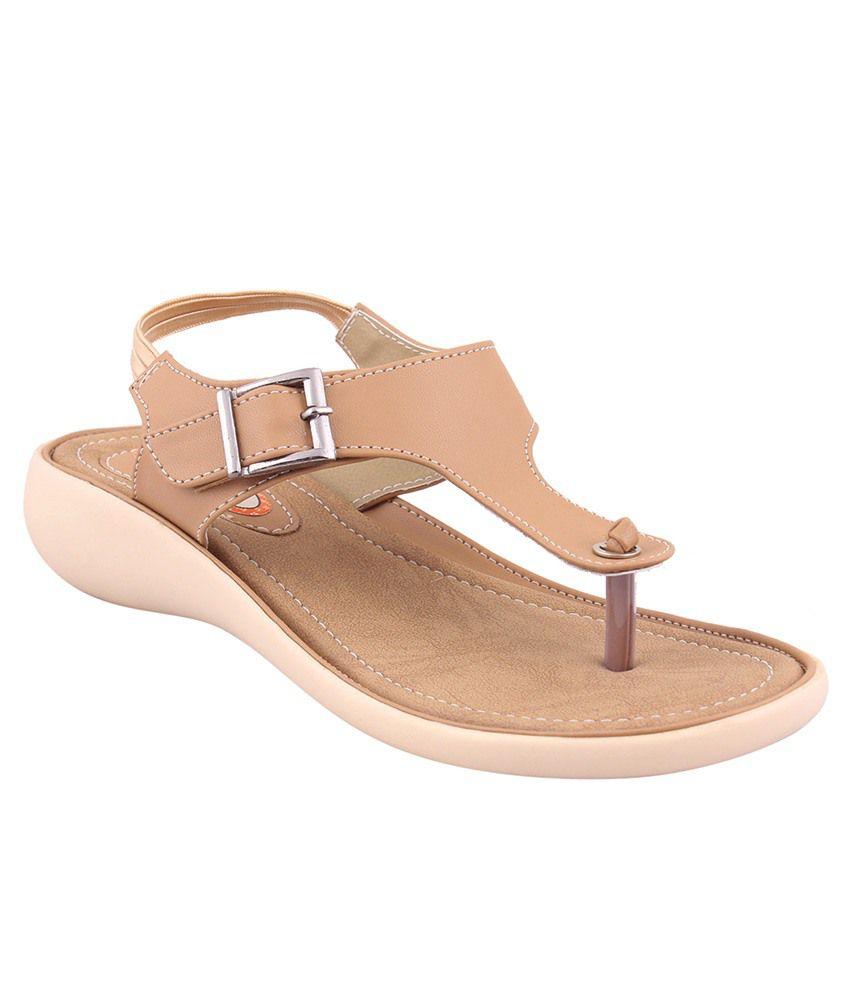 MSC Beige Wedges Heels