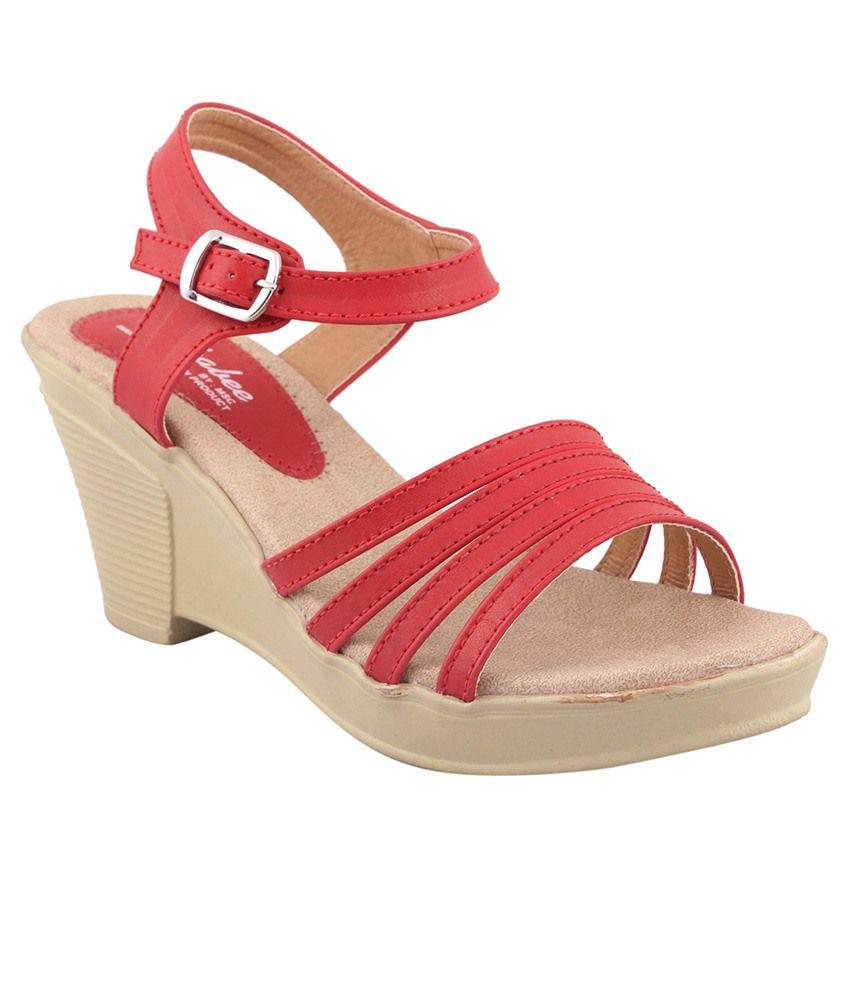 MSC Red Wedges Heels
