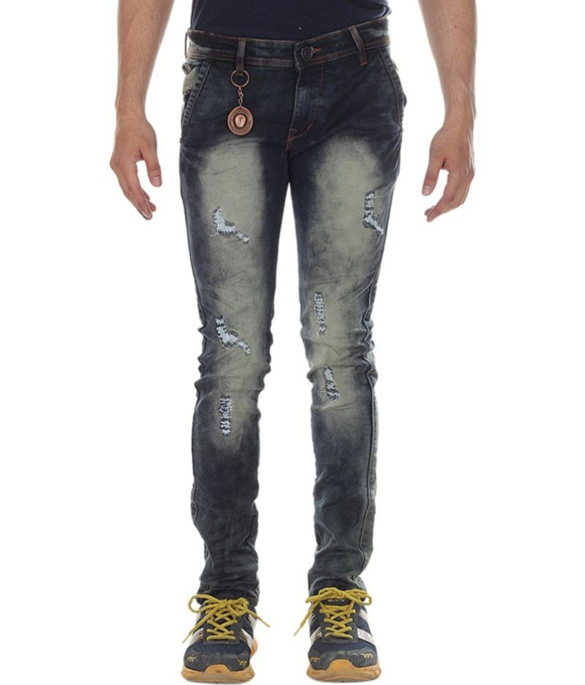 Denim Industries Blue Regular Fit Jeans No