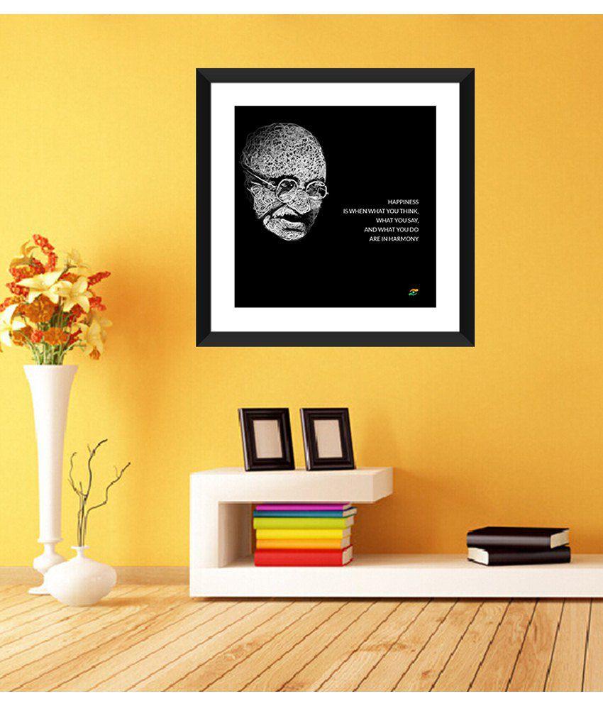 Tallenge Mahatma Gandhi Motivational Quotes Happiness Framed Art Print