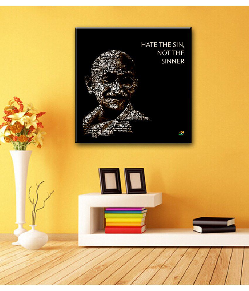 Tallenge Mahatma Gandhi Motivational Quotes Hate The Sin, Not The Sinner Gallery Wrap Canvas Art Print