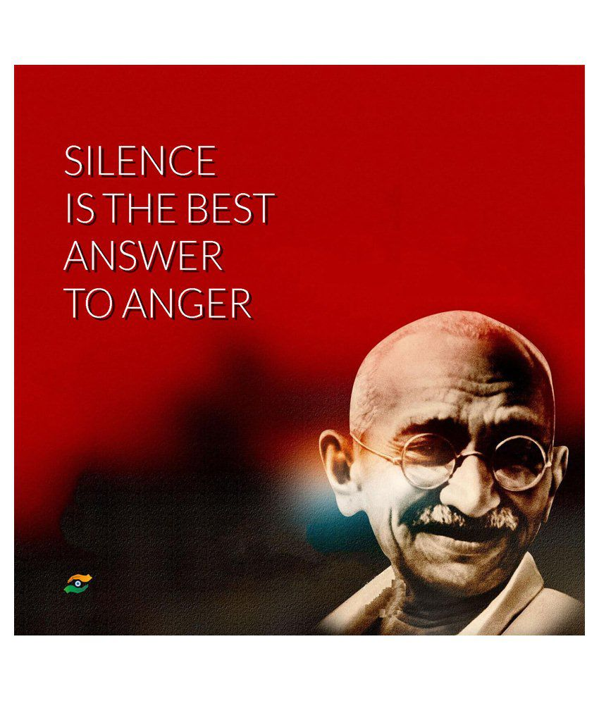 Famous Gandhi Quotes: Tallenge Mahatma Gandhi Motivational Quotes Silence Is The