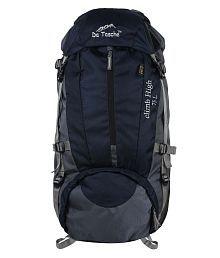 Da Tasche Navy and Grey Polyester Hiking Bag
