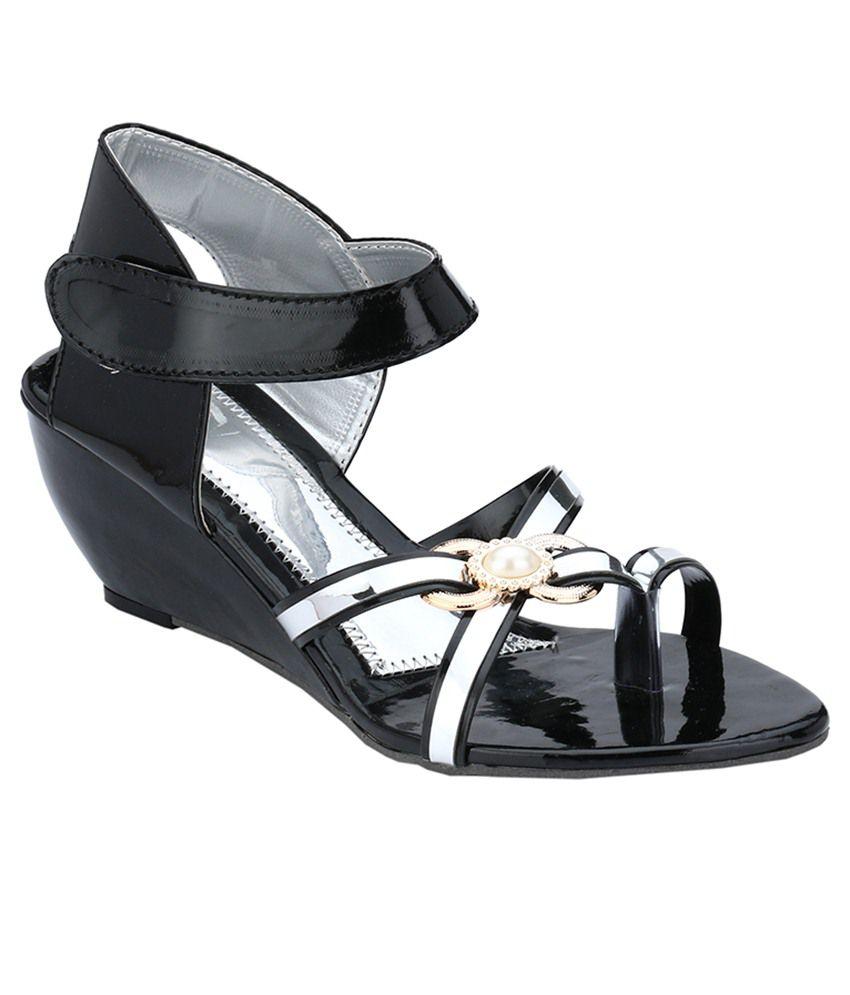 Nickolas Black Wedges Heels