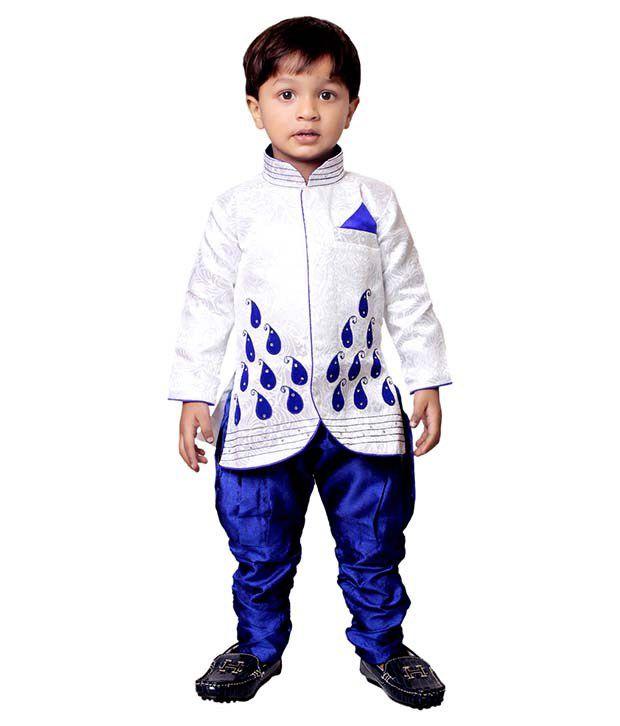 Tiny Toon Blue Kurta Pyjamas For Boys
