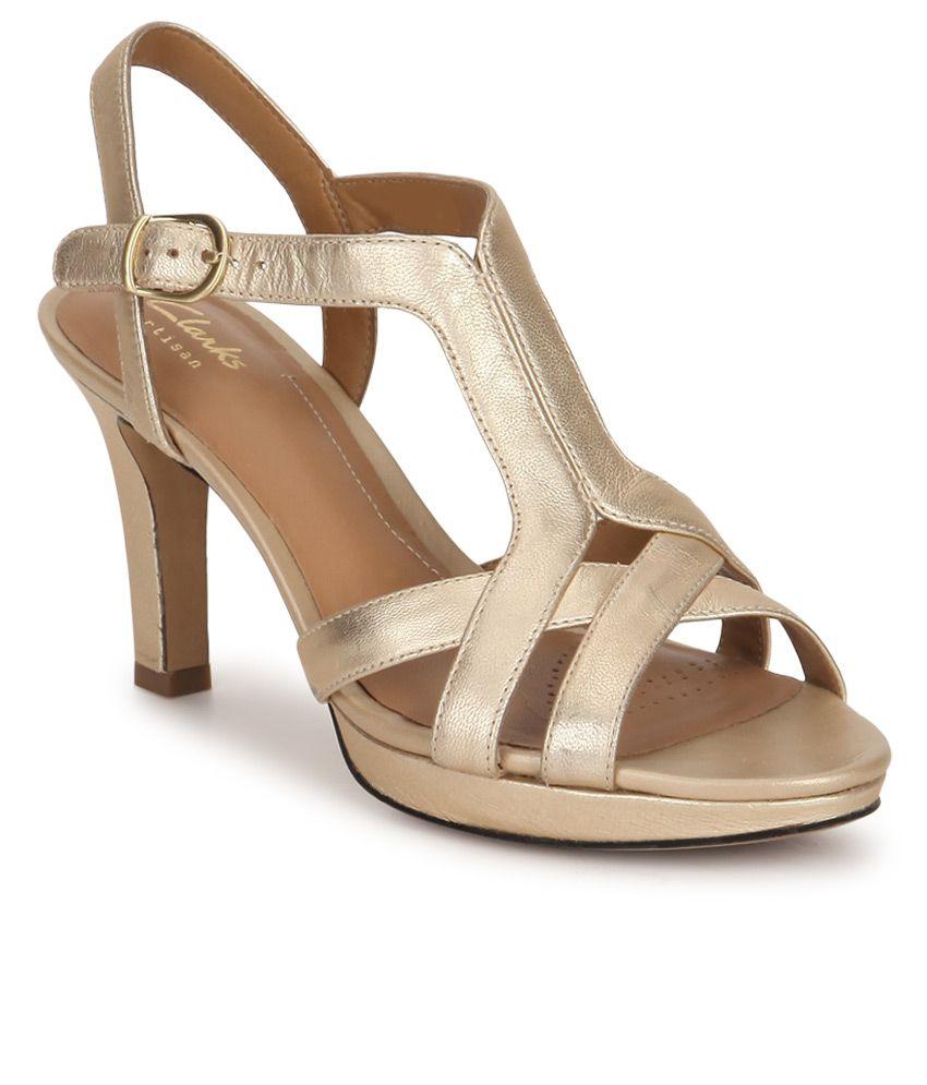 Clarks Gold Stiletto Heels