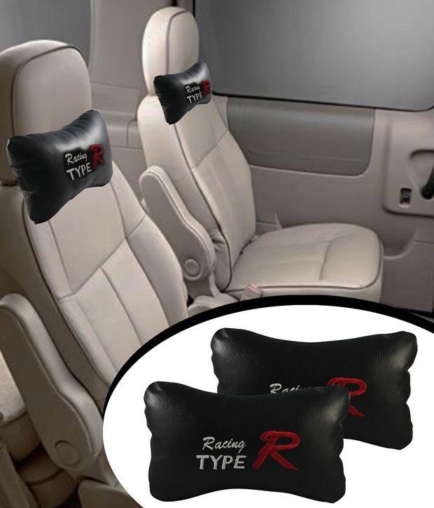 Type R - Car Seat Neck Cushion Pillow - (Black) - Buy 1 Get 1 Free