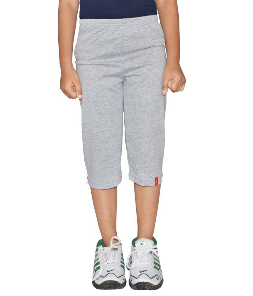 Clever Grey Cotton Capris