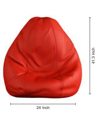 Surprising Tulip Bean Bag Cover Red Xxl Buy Tulip Bean Bag Cover Red Uwap Interior Chair Design Uwaporg