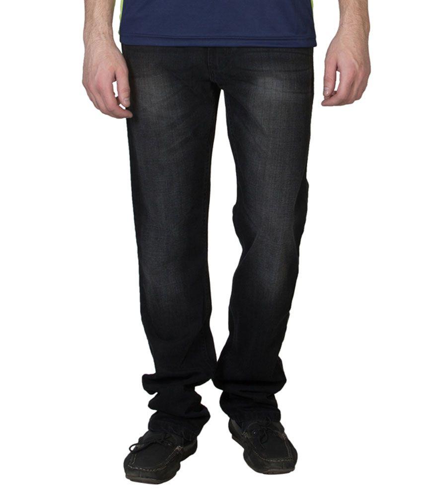 Ruf & Tuf Black Slim Fit Jeans