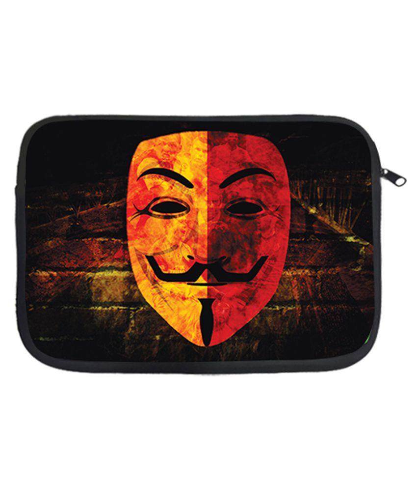 Via Flowers Mask Laptop Sleeve - Multicolour