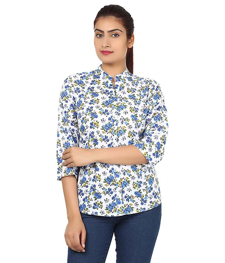 Buy Fab Exclusive Blue Cotton Shirts Online At Best Prices