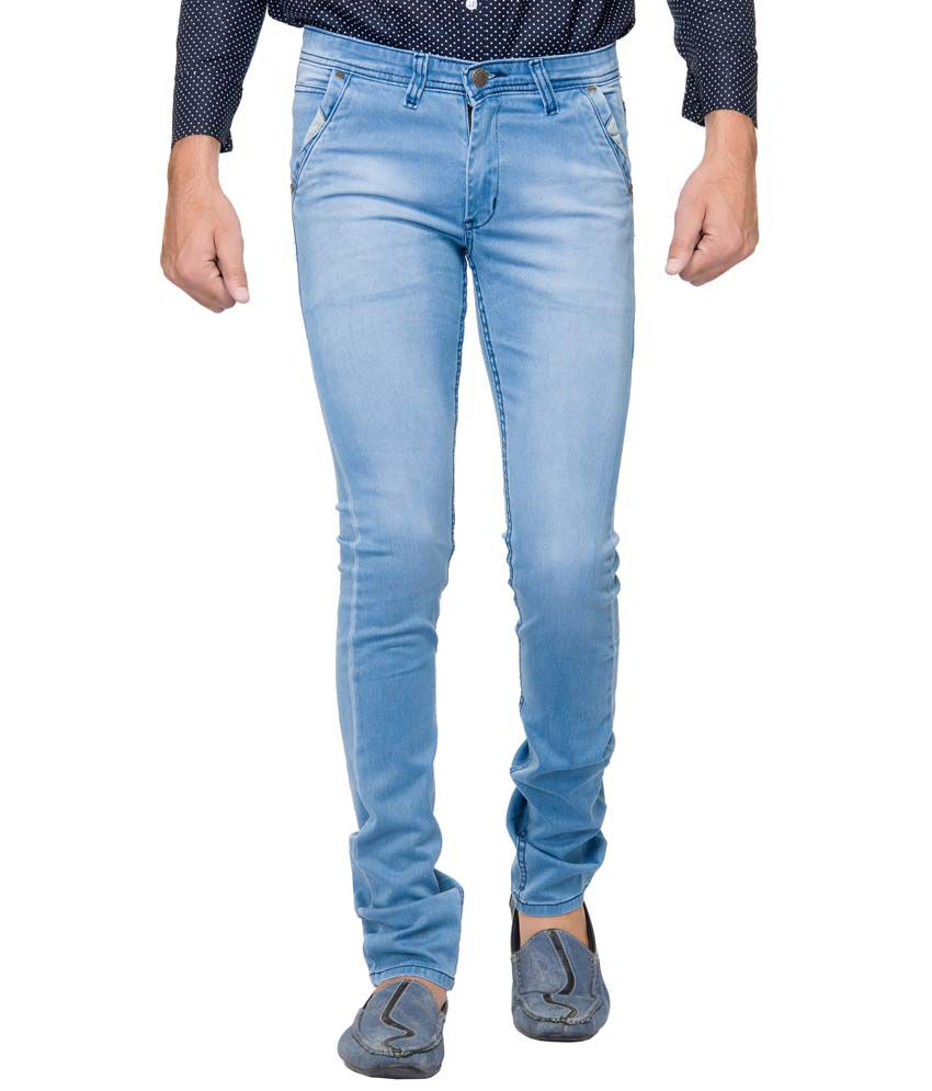 Greatonyou Blue Skinny Fit Jeans