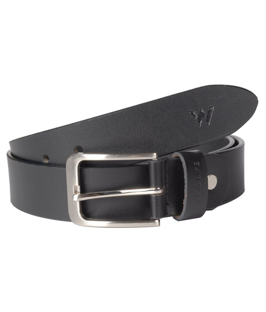 Wega Life Black Leather Formal Belt For Men
