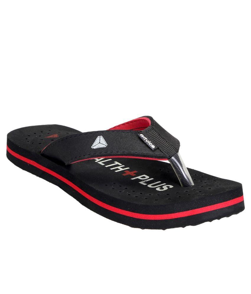 Advice Black Slippers & Flip Flops