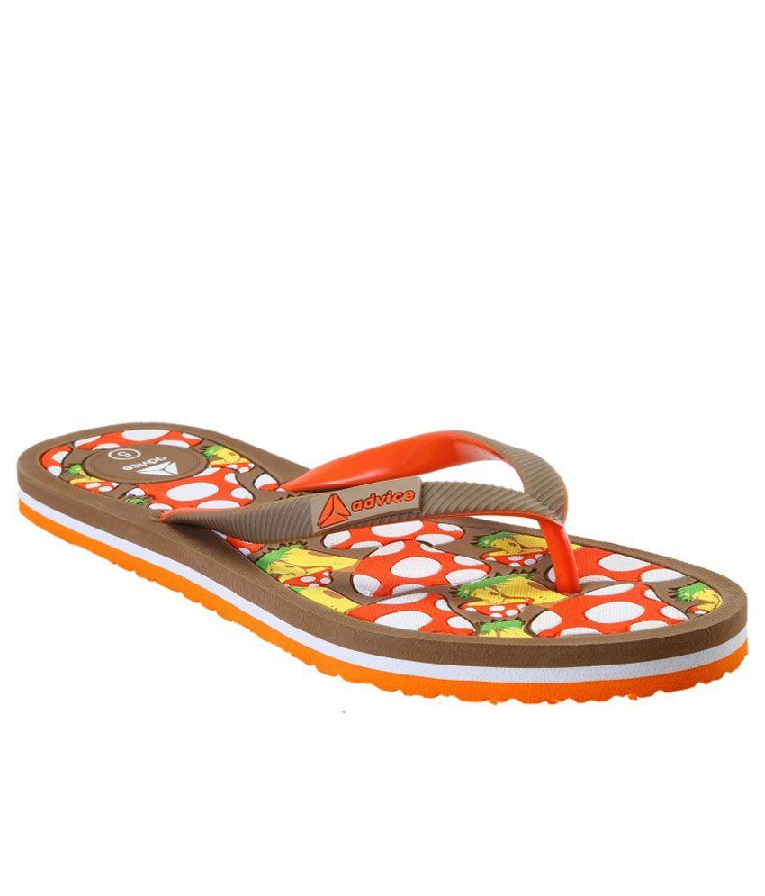 Advice Brown Slippers & Flip Flops