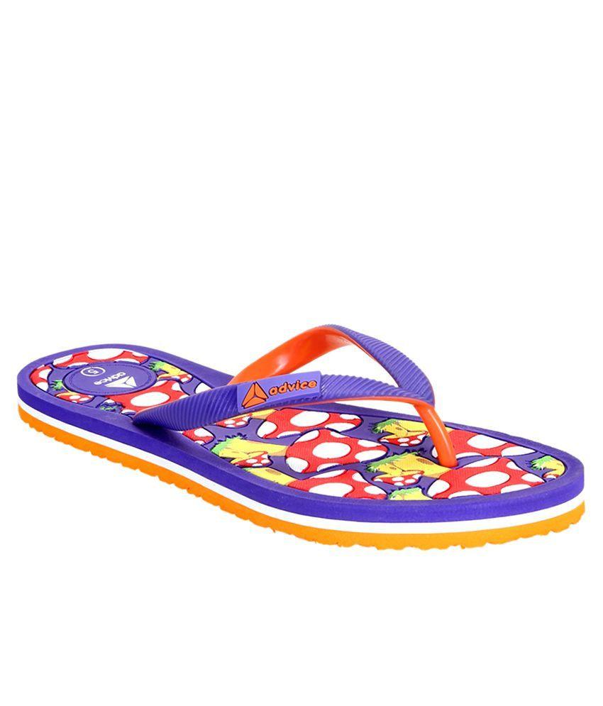 Advice Purple Slippers & Flip Flops