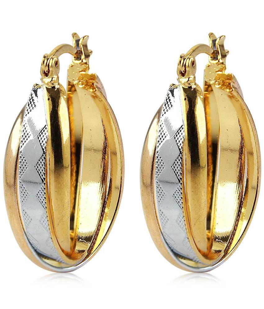 Diva Golden Hoop Earrings